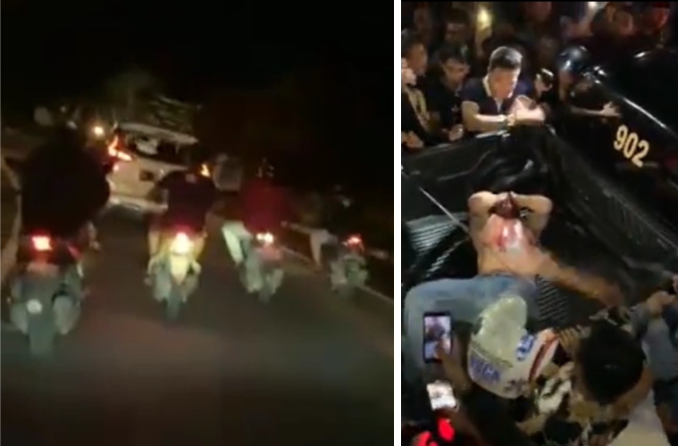 Alleged Drunk Tourist Slams Car Into Scooters In Jimbaran Chased Down By Locals
