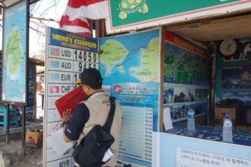 Bali money changers shut down