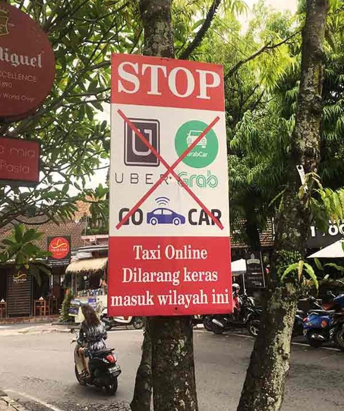 bali taxi stands