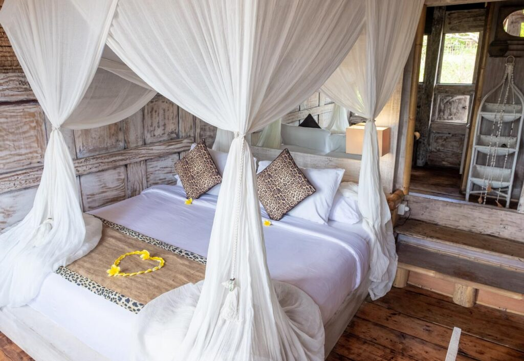Hotel room before the fire at The Bali Guideline Toraja Bambu Boutique Hotel