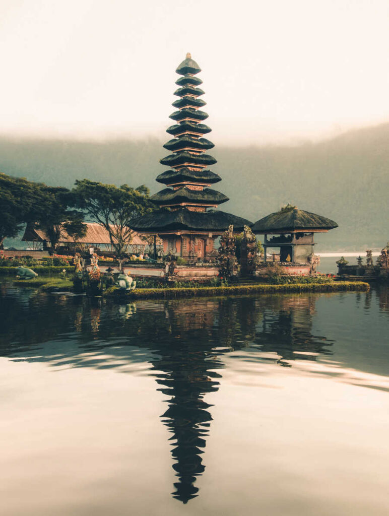 Bali pagoda tourist attraction
