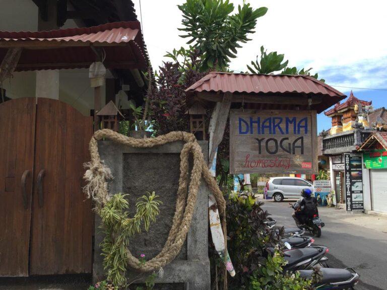 Dharma Yoga hostel in Amed under $10 a night
