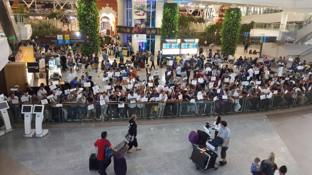 Bali airport arrivals before the Pandemic