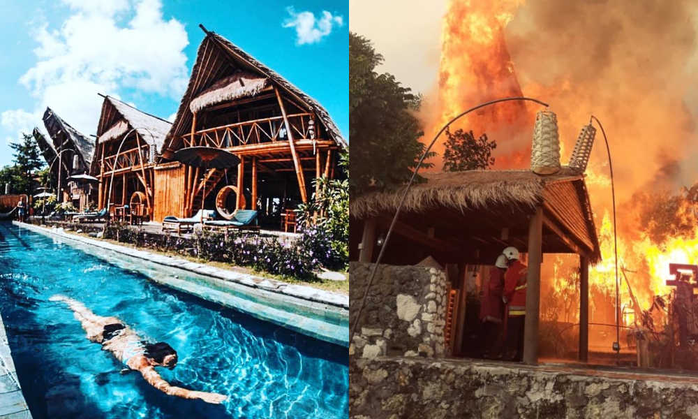 Toraja Bambu Boutique Hotel fire