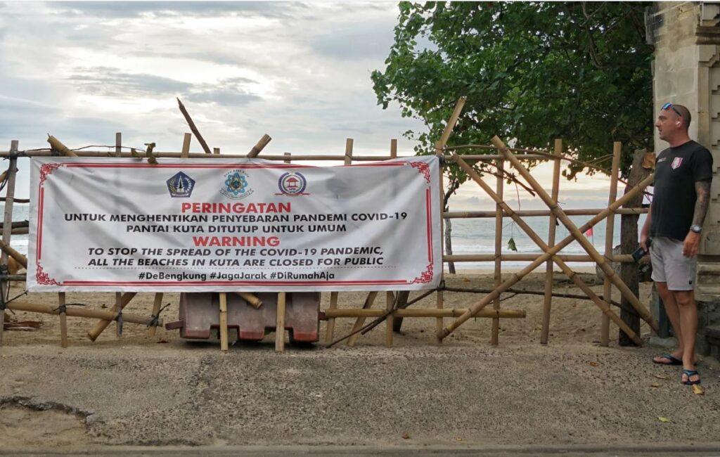 kuta beach closed