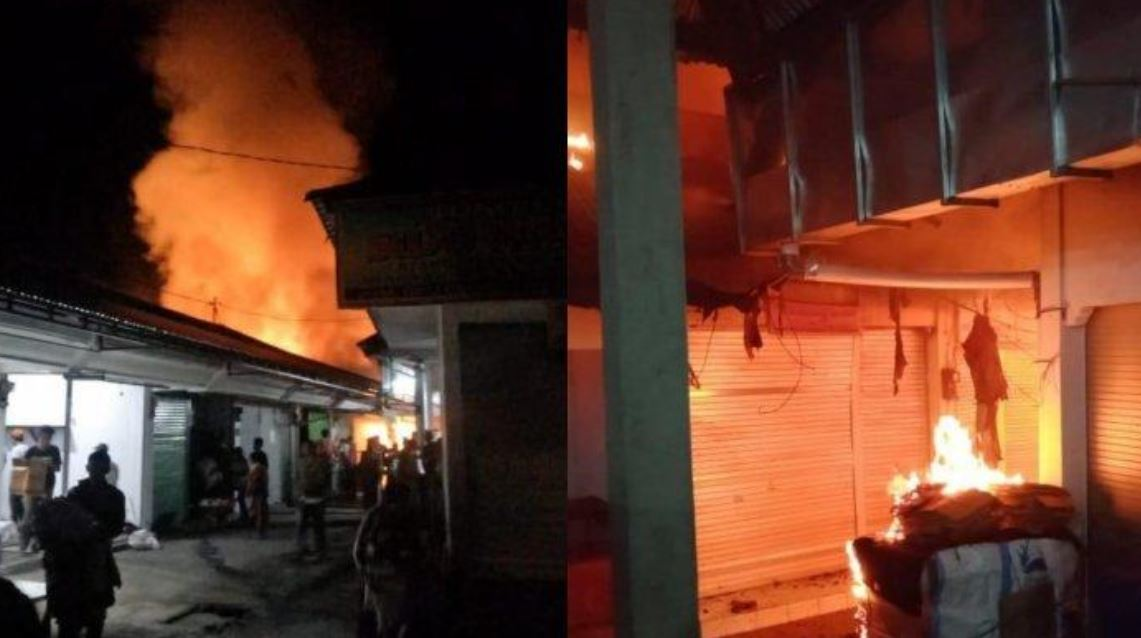 18 Shops Destroyed By Large Fire At Bali Market