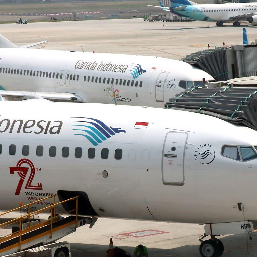 Garuda Planes parked