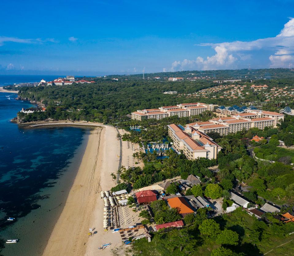 Beach hotel resort sits empty