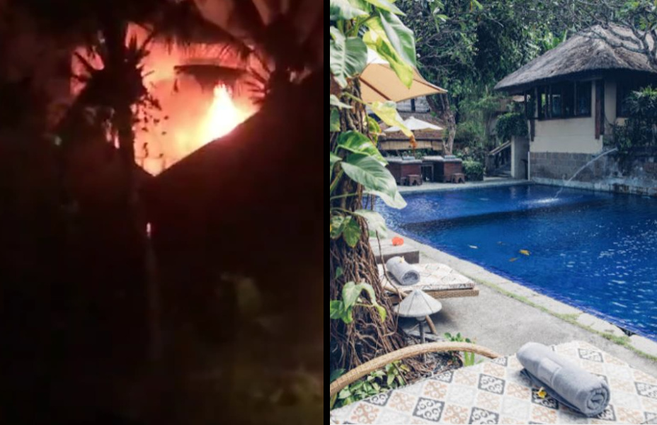 Fire Destroys 2 Hotels Buildings In Canggu Bali