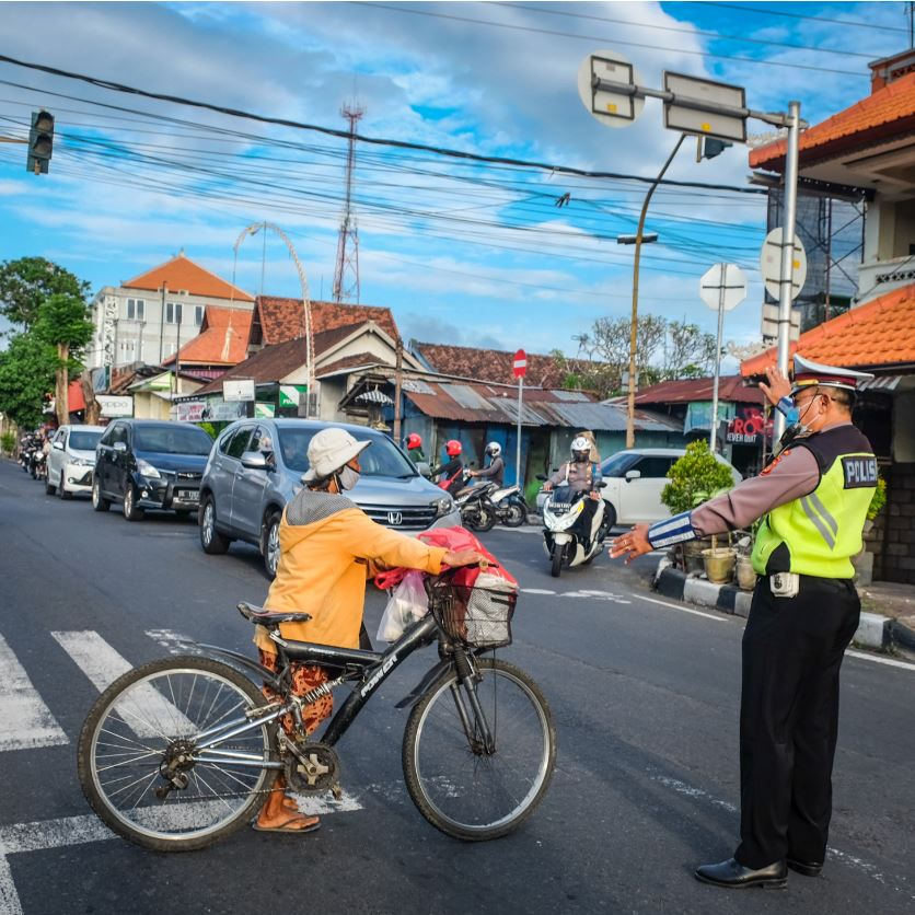 bali police officer mask