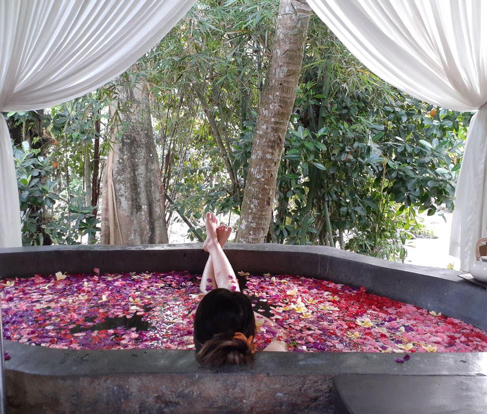 herbal flower bath