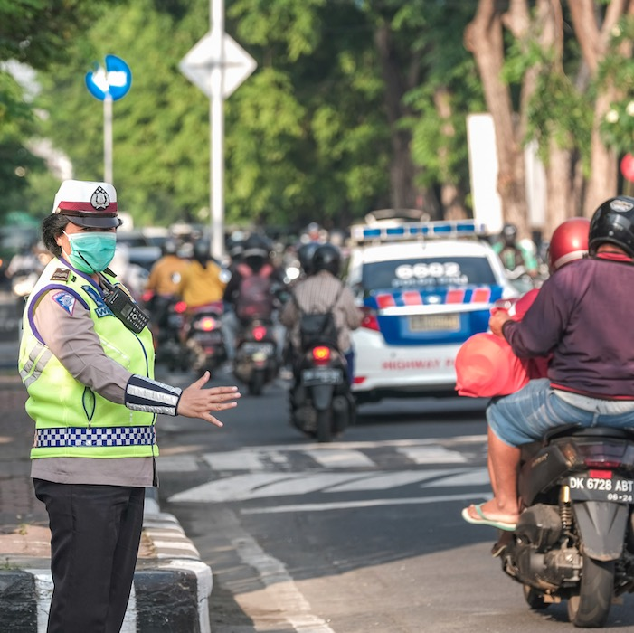 Bali police traffic
