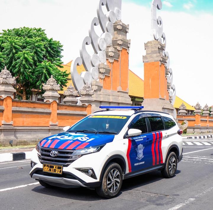 police car in Bali