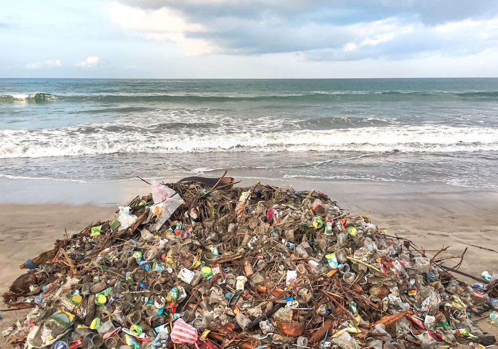 coastal waste and plastic