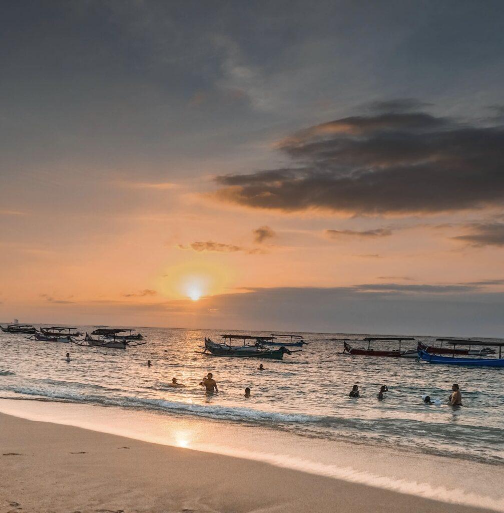 Bali beach sky