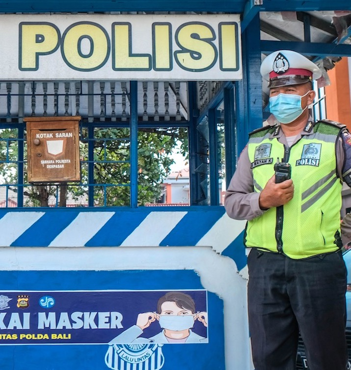 Bali police masks