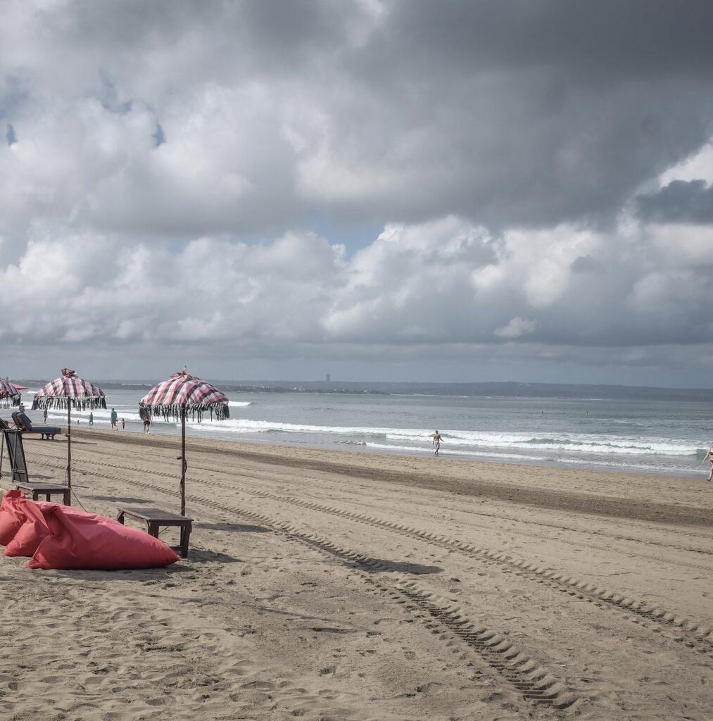 Cloudy Bali beach