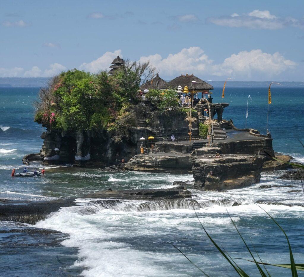 Tanah Lot temple Bali river