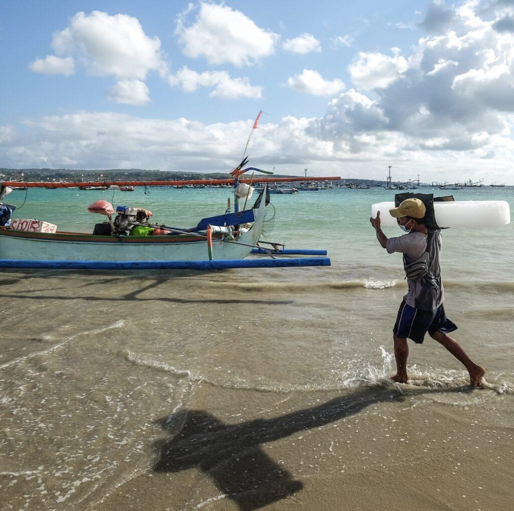 fisherman in Bali
