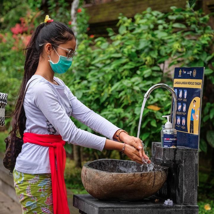 handwash station in Bali