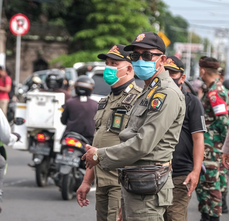 police and military Bali