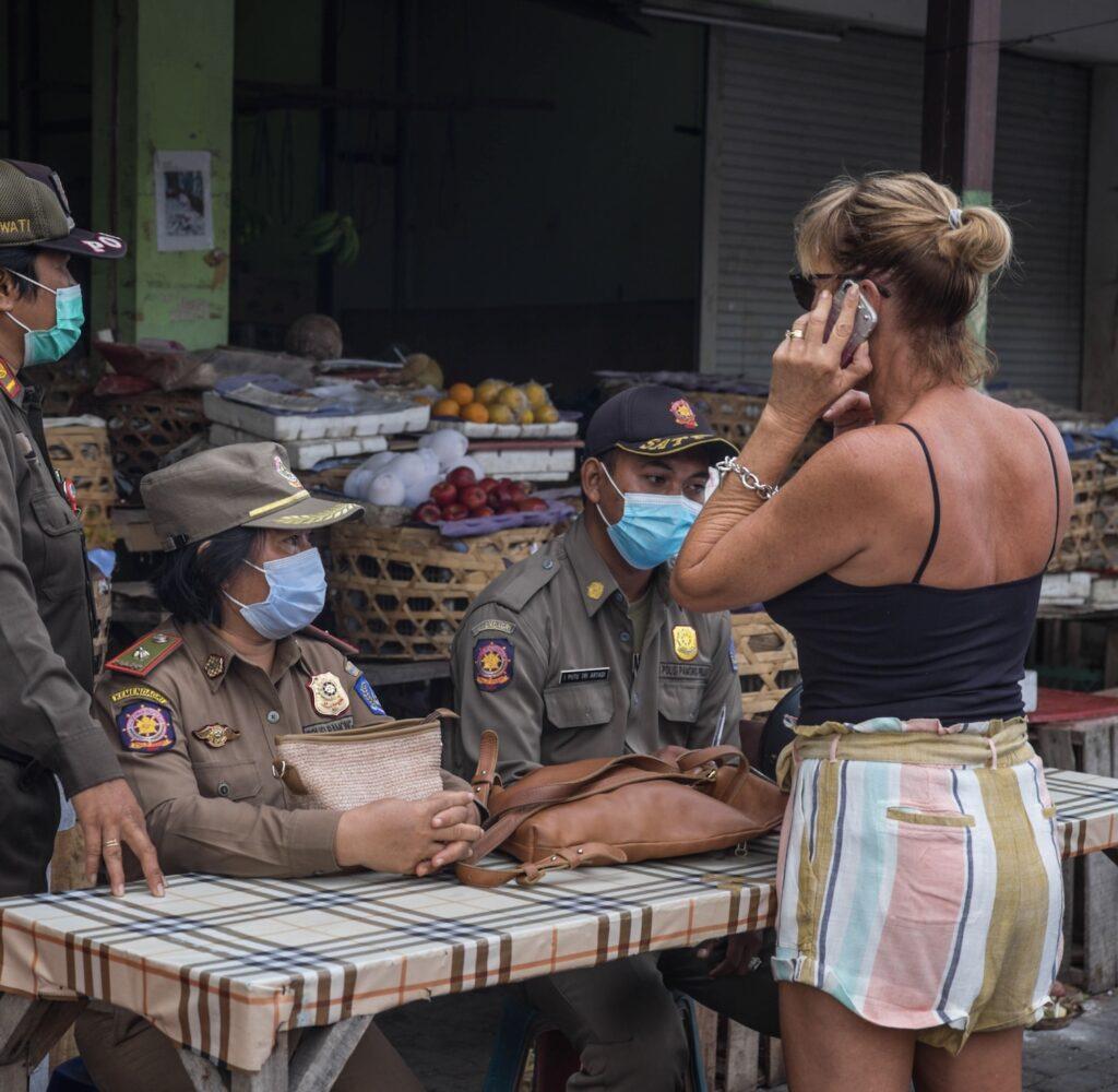 tourist mask fine Bali