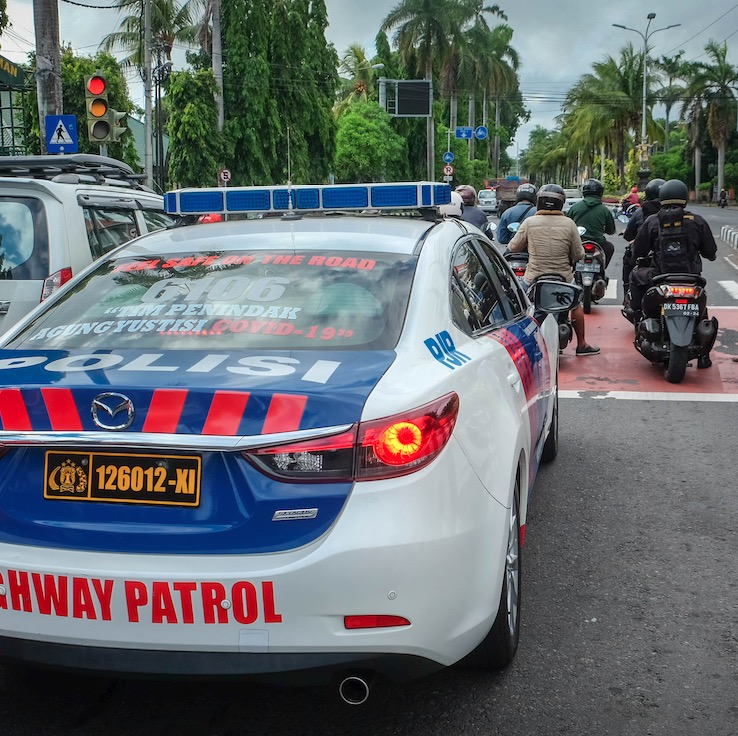traffic in Bali police