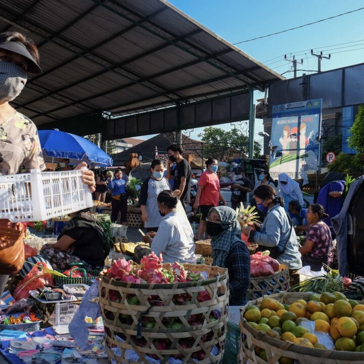 Bali Authorities Hand Out Fresh Vegetables While Enforcing Safety Protocols To Villagers