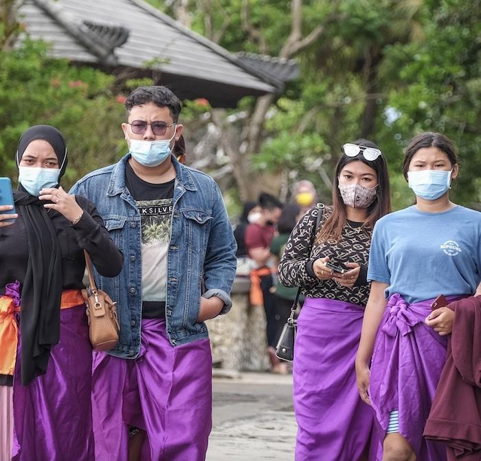 Bali locals masks