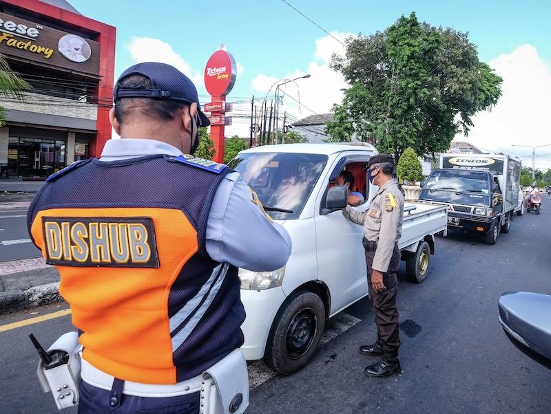 Bali police checking safety protocols