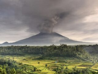 Mount Raung Eruption Spreads Volcanic Ash To Bali, Flights Canceled