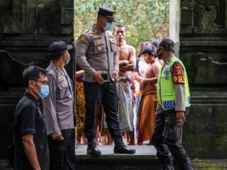 Officials Conduct Testing During Religious Ceremony In Bali