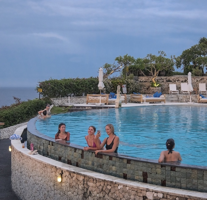international tourists Bali resort