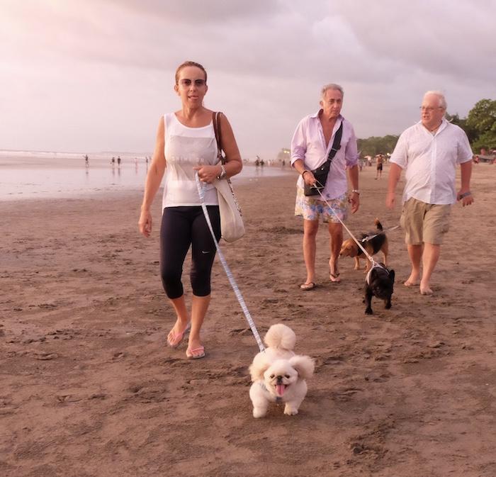 tourists at Bali beach