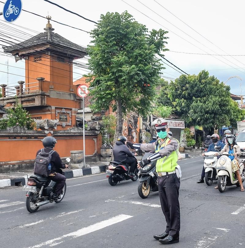 traffic police Denpasar