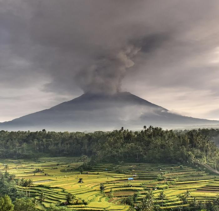 volcanic eruption Bali