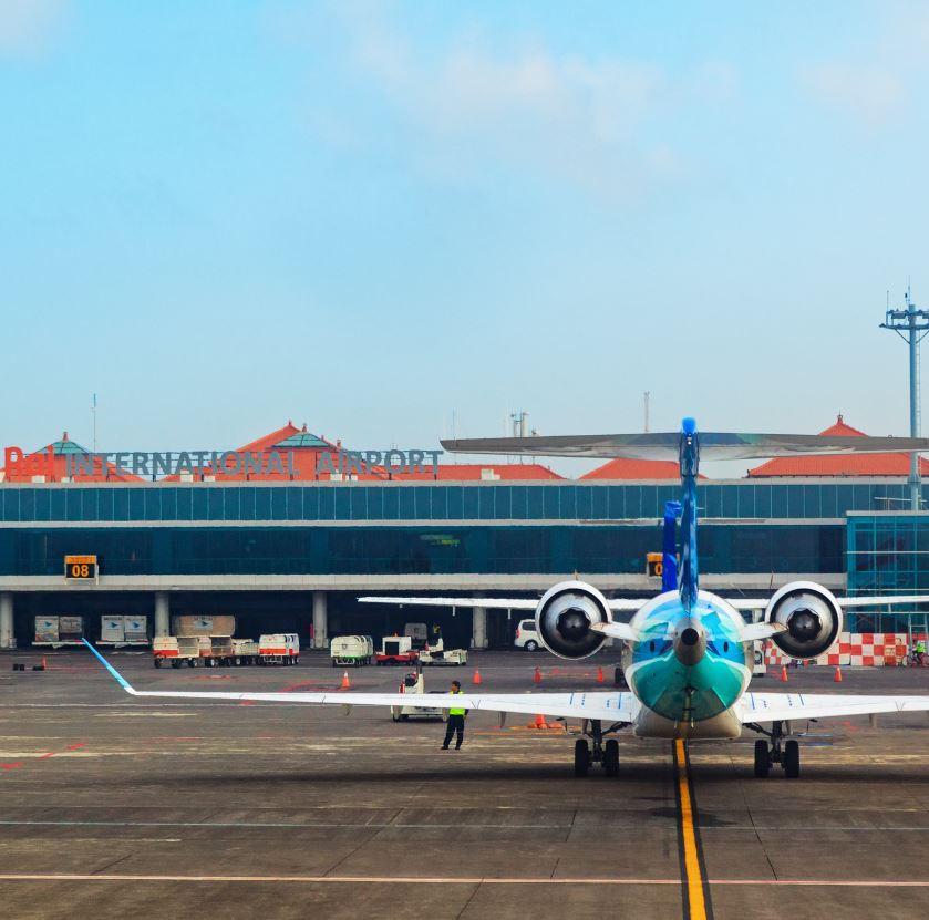 Airplane-at-Bali-airport