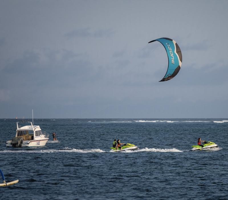 Bali beach water sports tourists