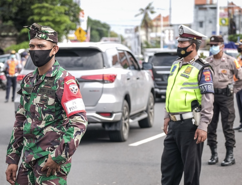 Bali police military team