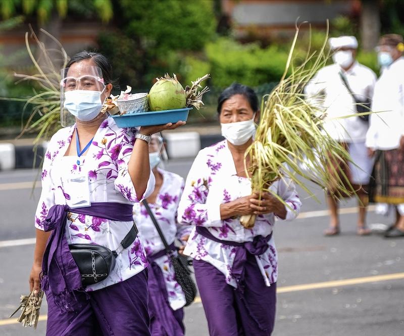 Bali traditions locals masks