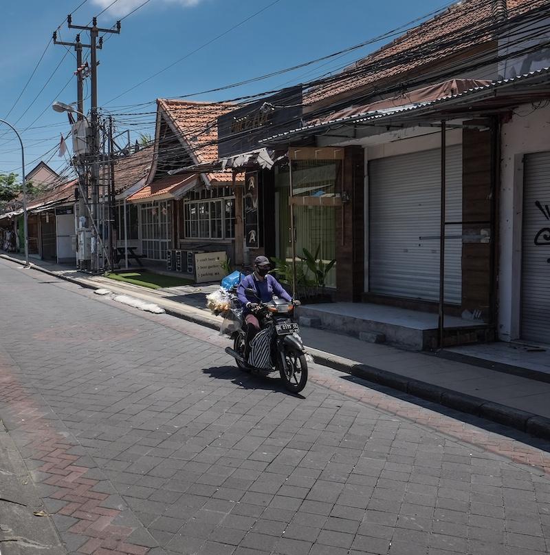 closed stored motorbike