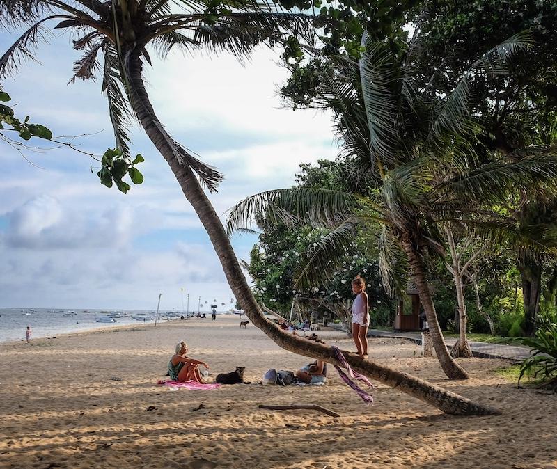 international tourists beach