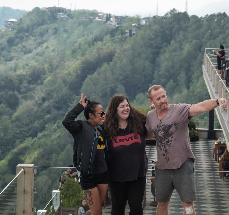international tourists in Bali