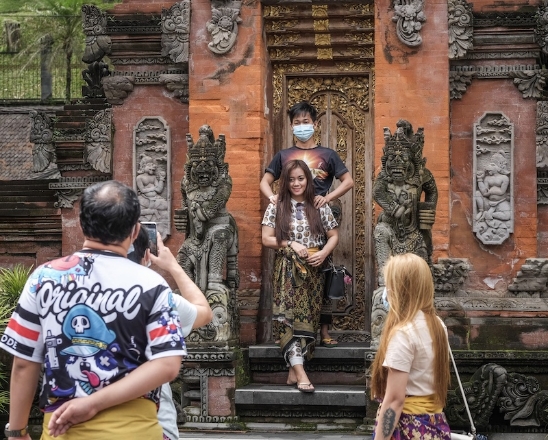 tourists at temple