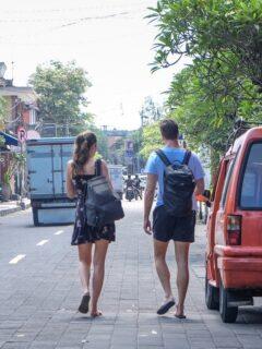 tourists masks street