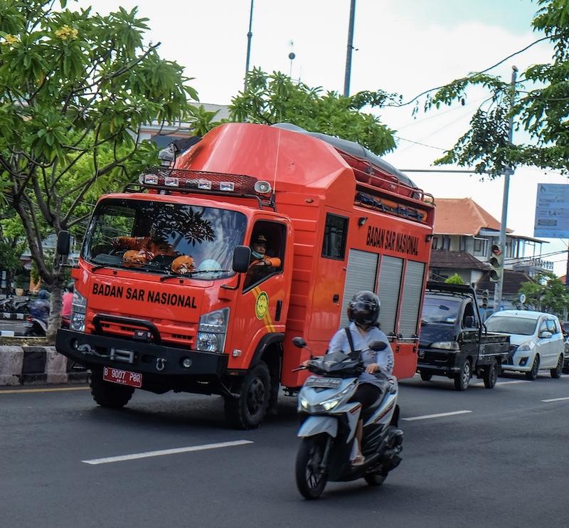 Fire truck traffic