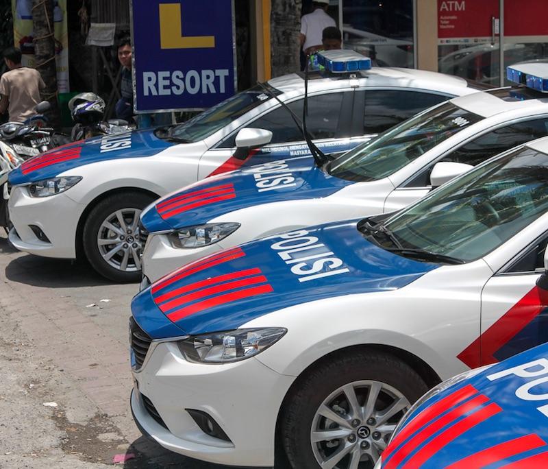 Bali police cars