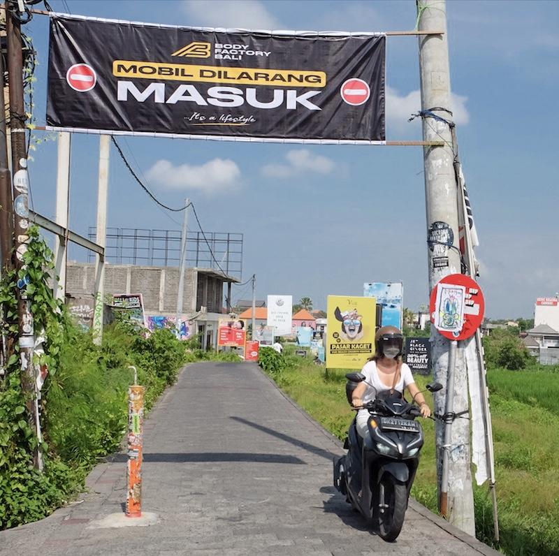 tourist on motorbike