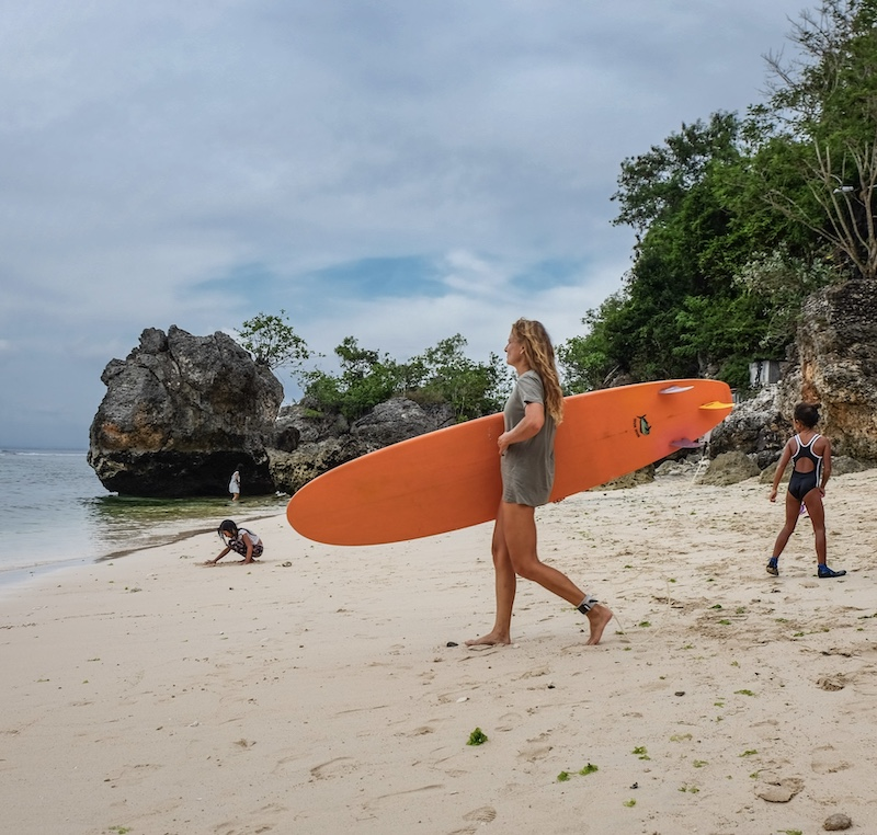 tourist surfer
