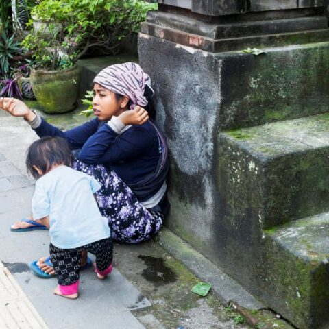 Bali authorities have detained dozens of children, some even carrying infants while begging on the streets in the Gianyar District.